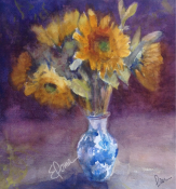 Sunflowers in a Chinese Vase SOLD