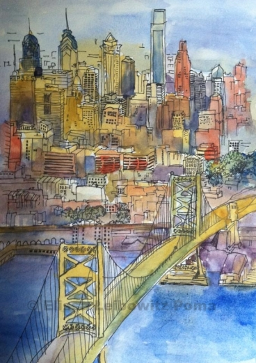 Philly skyline SOLD
