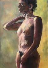 Sheba, acrylic on paper