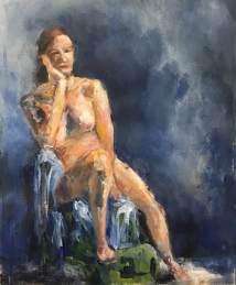 Anna #1, acrylic on paper