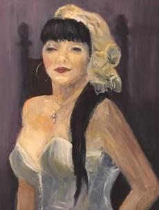 Shadiyah in Costume, acrylic on canvas