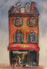 Georgetown Bakery, watercolor and ink on paper