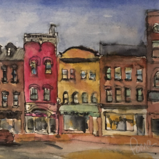 Georgetown Unlabeled, watercolor and ink on paper